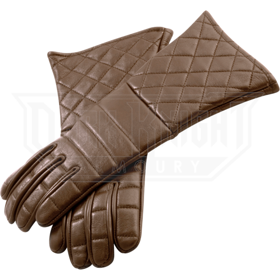 Brown Leather Gauntlets