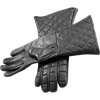 Black Leather Gauntlets