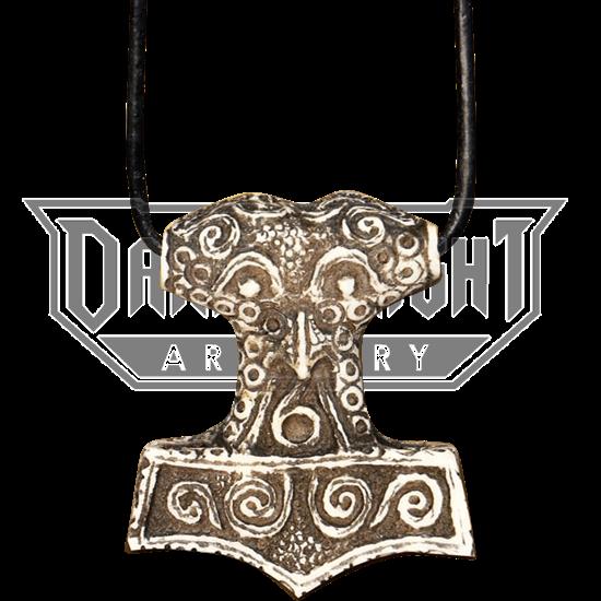 Bone Thors Hammer Necklace