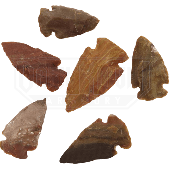 Agate Small Arrowheads Set Of 6