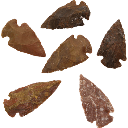 Agate Medium Arrowheads Set Of 6