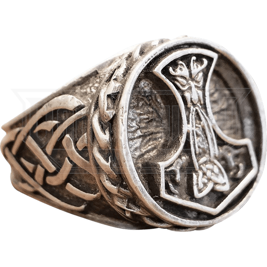 Thors Hammer Pewter Ring