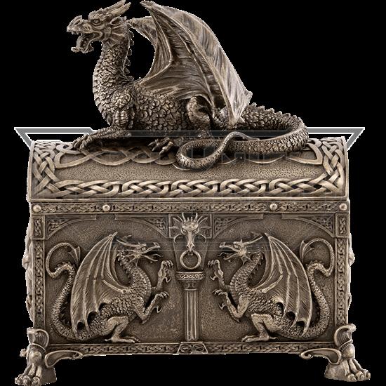 Celtic Dragon Trinket Box