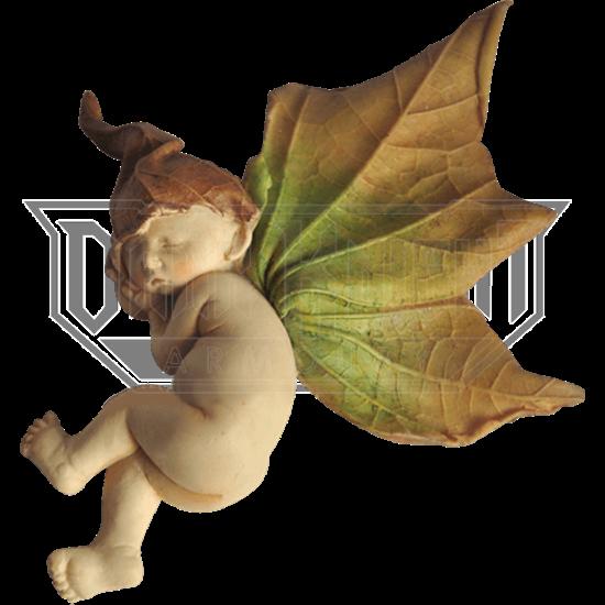 Sleeping Fairy Cherub Statue