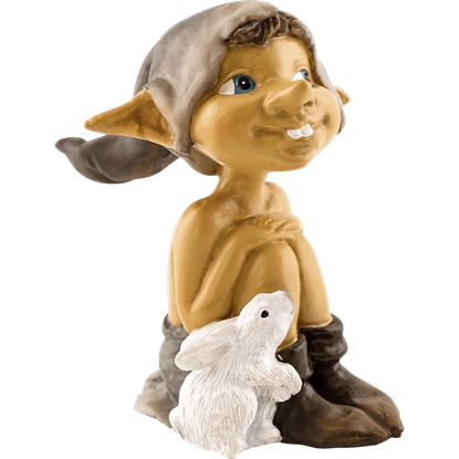 Garden Pixie and Bunny Statue