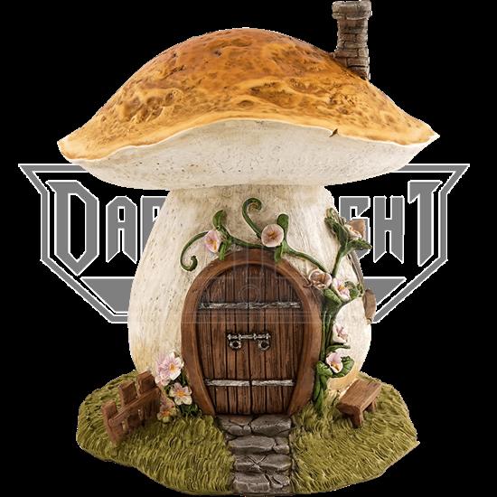 Mushroom Fantasy House Statue