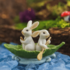 Rowboat Bunnies Statue