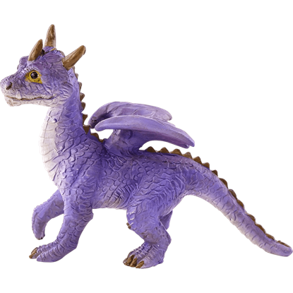 Mini Purple Dragon Statue