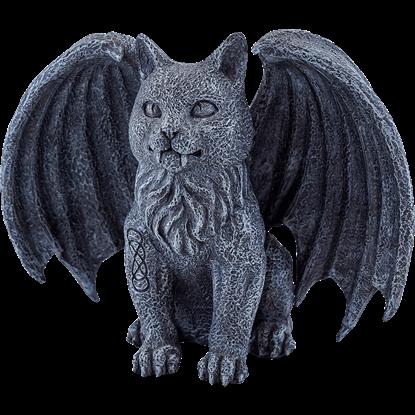 Celtic Vampire Cat Gargoyle Statue