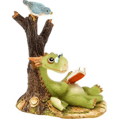 Scaley the Dragon Reading Statue