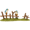 Birds on a Fence Statue