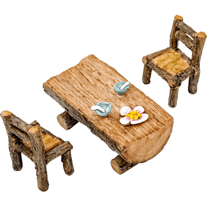 Mini Wooden Table and Chairs Set