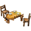 Mini Leaf Table and Chairs Set