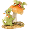 Frolicking Dragons Statue