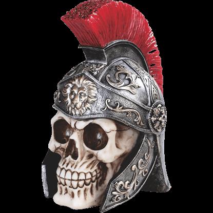 Roman General Skull Statue