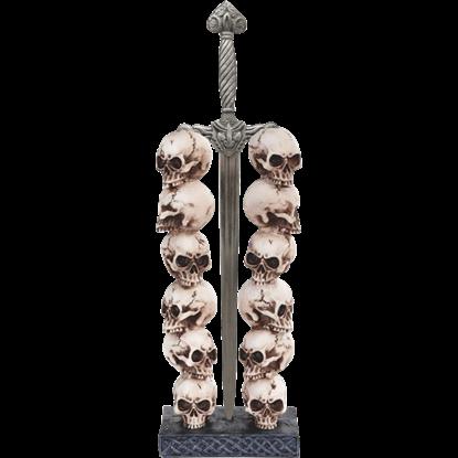 Skull Stack with Sword Letter Opener