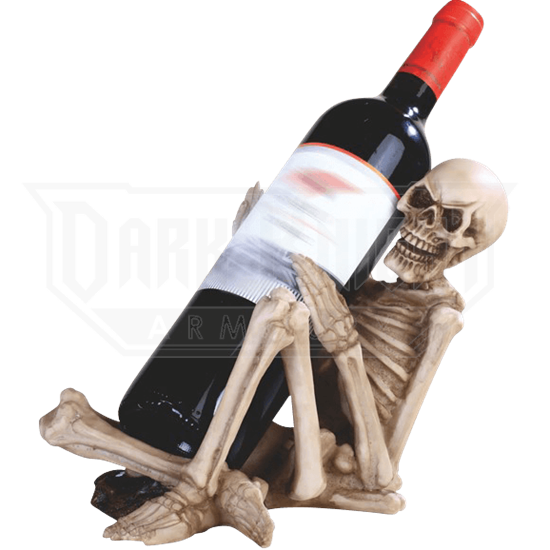 Laughing Skeleton Wine Holder
