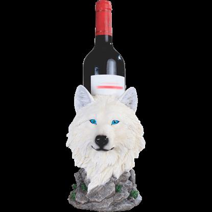 Snow Wolf Wine Holder