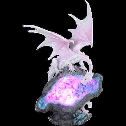 Pink Crystal Dragon LED Statue