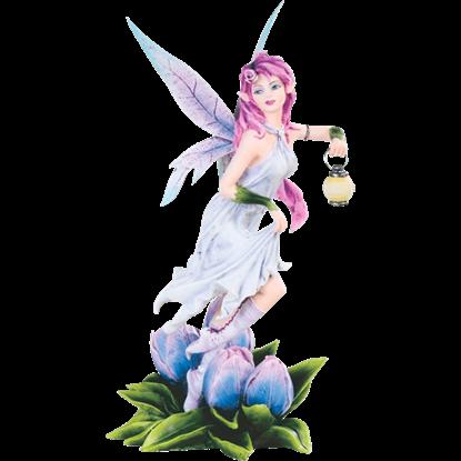 Tulip Fairy with Lantern Statue