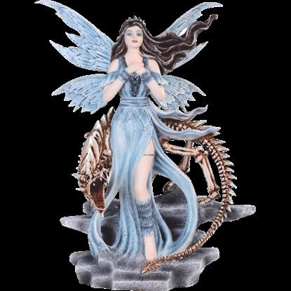 Fairy and Skeleton Dragon Statue