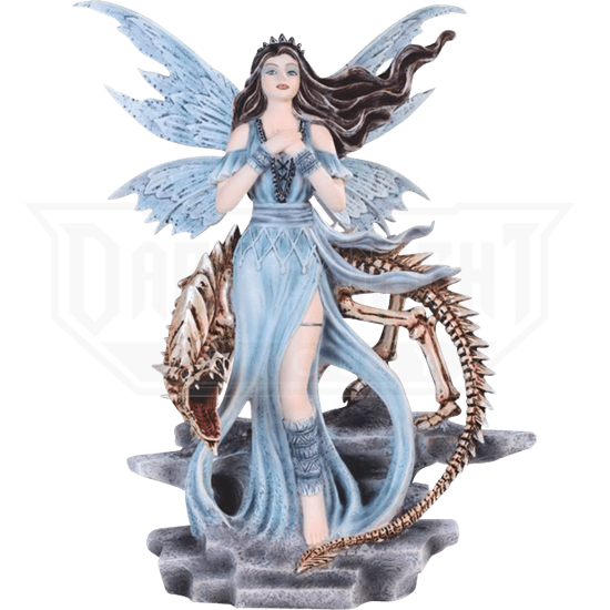 Fairy and Skeleton Dragon Statue