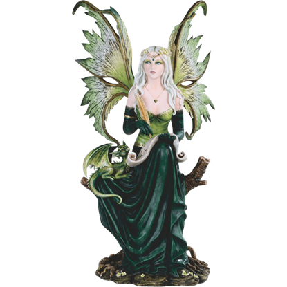 Writing Fairy and Dragon Statue