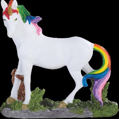 Rainbow Mane Unicorn Statue