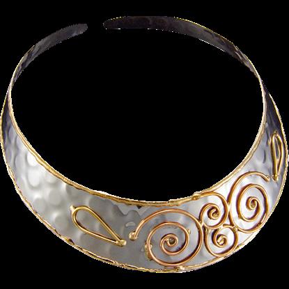 Celtic Spiral Choker Necklace