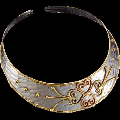 Heart Clover Choker Necklace