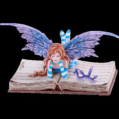 Bookworm Fairy Statue