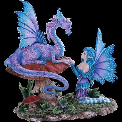 Fairy and Companion Dragon Statue