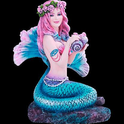 Spring Flowers Mermaid Statue