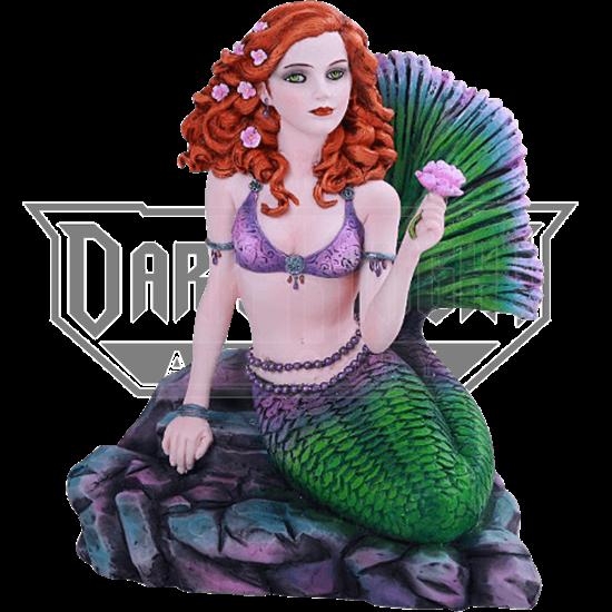 Celtic Stone Mermaid Statue