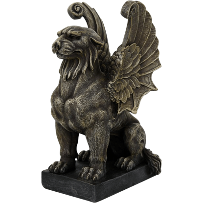 Regal Lion Gargoyle Statue