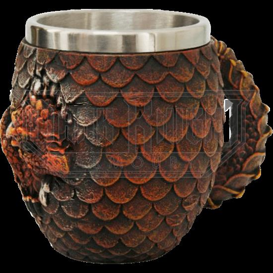 Red Hatchling Dragon Mug