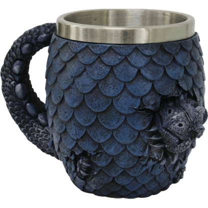 Blue Hatchling Dragon Mug
