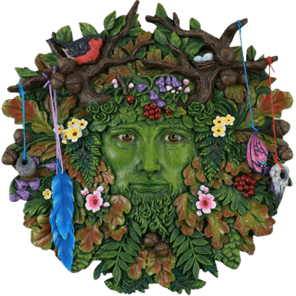 Spring and Autumn Greenman Plaque