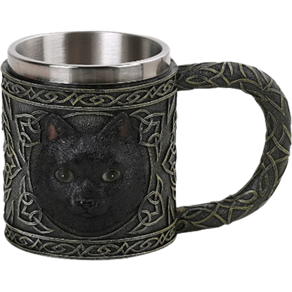 Celtic Black Cat Mug
