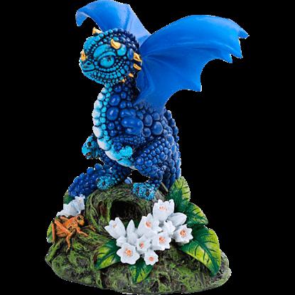 Blueberry Dragon Statue