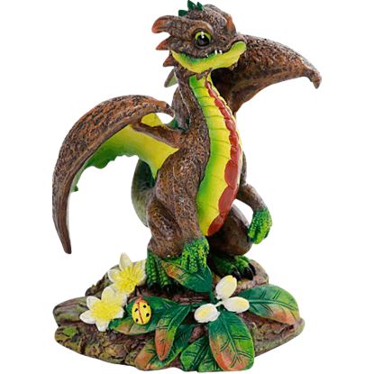 Avocado Dragon Statue