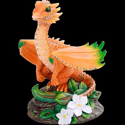 Orange Dragon Statue