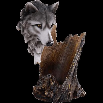 Wolf Head Wine Holder