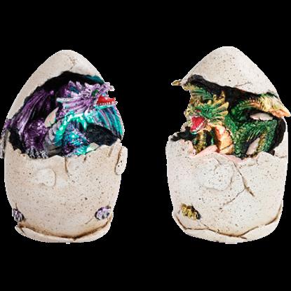Purple and Green Dragon Eggs Set