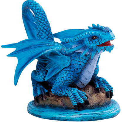 River Water Baby Dragon Statue