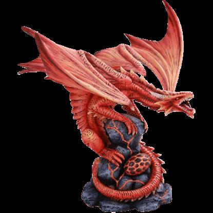 Lava Fire Dragon Statue
