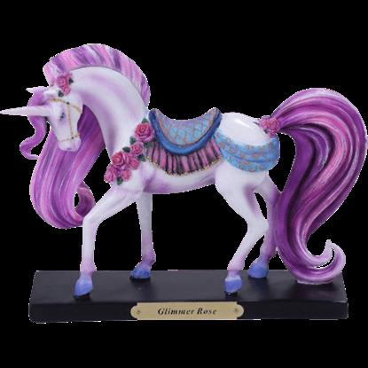 Glimmer Rose Unicorn Statue