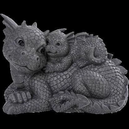 Dragon Family Garden Statue