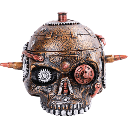Bulleted Mechanical Skull Box