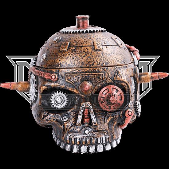 Bulleted Mechanical Skull Box